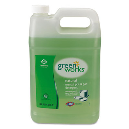 Green Works Manual Pot and Pan Dishwashing Liquid, 128 oz Bottle, 4/Carton (CLO30388CT)