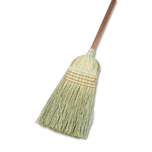 "Boardwalk Warehouse Broom, Yucca Corn Fiber Bristles, 56"" Overalll Length, Natural, 12/Ct (BWK932YCT)"