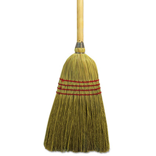 "Boardwalk Maid Broom, Mixed Fiber Bristles, 55"" Wood Handle, Natural, 12/Carton (BWK920YCT)"