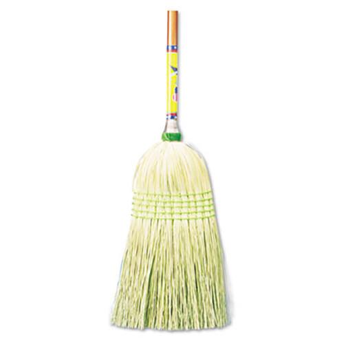 "Boardwalk Parlor Broom, Corn Fiber Bristles, 55"" Wood Handle, Natural, 12/Carton (BWK926CCT)"