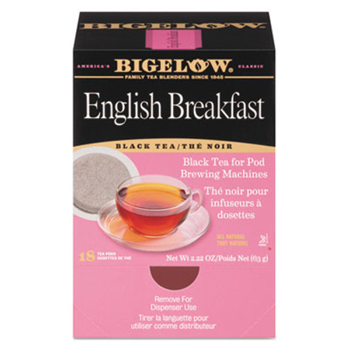 Bigelow English Breakfast Tea Pods, 1.90 oz, 18/Box (BTC009906)