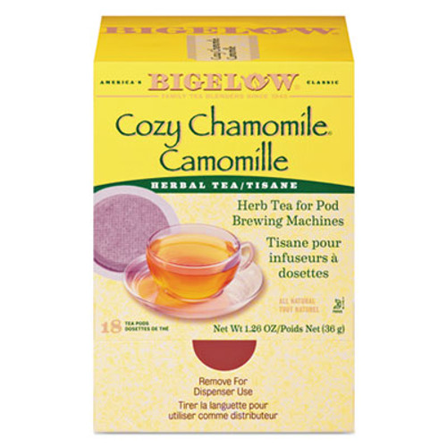 Bigelow Cozy Chamomile Herbal Tea Pods, 1.90 oz, 18/Box (BTC10906)