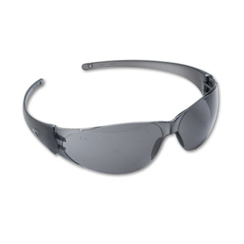 MCR Safety Checkmate Wraparound Safety Glasses, Clear Polycarbonate Frame, Gray Lens (CRWCK112)