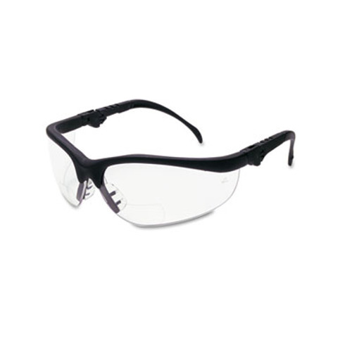 MCR Safety Klondike Magnifier Glasses, 2.5 Magnifier, Clear Lens (CRWK3H25)