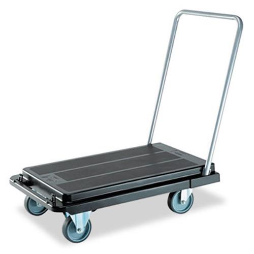 deflecto Heavy-Duty Platform Cart, 500lb Capacity, 21w x 32 1/2d x 37 1/2h, Black (DEFCRT550004)