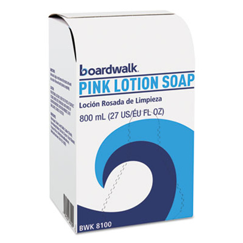 Boardwalk Mild Cleansing Pink Lotion Soap, Floral-Lavender Scent, Liquid, 800mL Box (BWK8100EA)