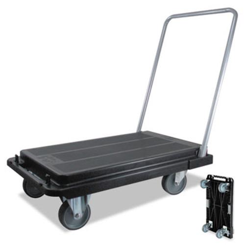 deflecto Heavy-Duty Platform Cart, 300lb Capacity, 21w x 32 1/2d x 36 3/4h, Black (DEFCRT530004)