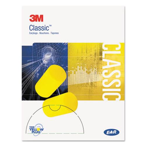 3M E·A·R Classic Small Earplugs in Pillow Paks, PVC Foam, Yellow, 200 Pairs (MMM3101103)