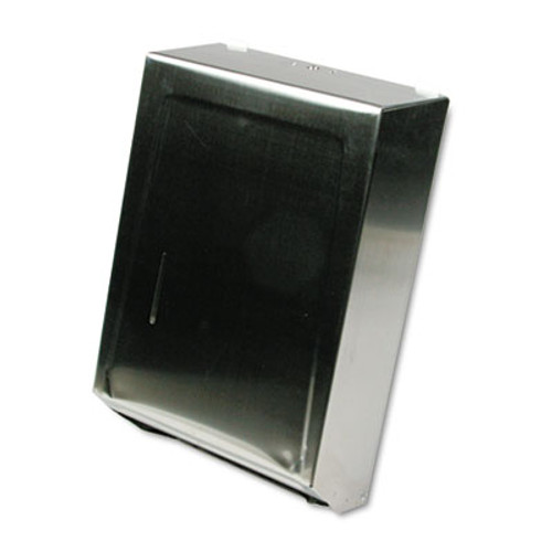 Ex-Cell C-Fold or Multifold Towel Dispenser, 11 1/4 x 4 x 15 1/2, Stainless Steel (EXC242SS)