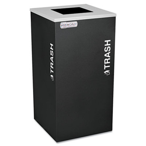 Ex-Cell Kaleidoscope Collection Recycling Receptacle, 24gal, Black (EXCRCKDSQTBLX)