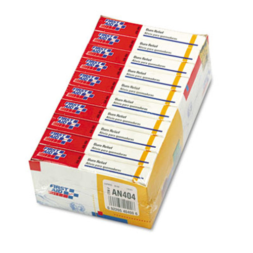 First Aid Only Burn Treatment Pack Refills for ANSI-Compliant First Aid Kits/Cabinets, 60/Pack (FAOAN404)