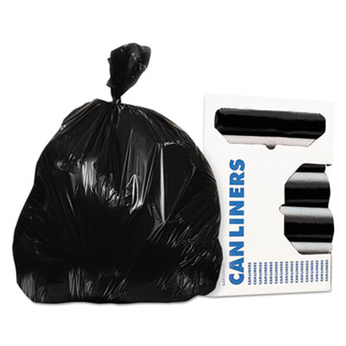 AccuFit Can Liners, Prime Resin, 33 x 44, 1.3 mils, Black, 100/Carton (HERH6644PKR01)