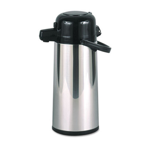 Hormel Commercial Grade 2.2L Airpot, w/Push-Button Pump, Stainless Steel/Black (HORPAE22B)