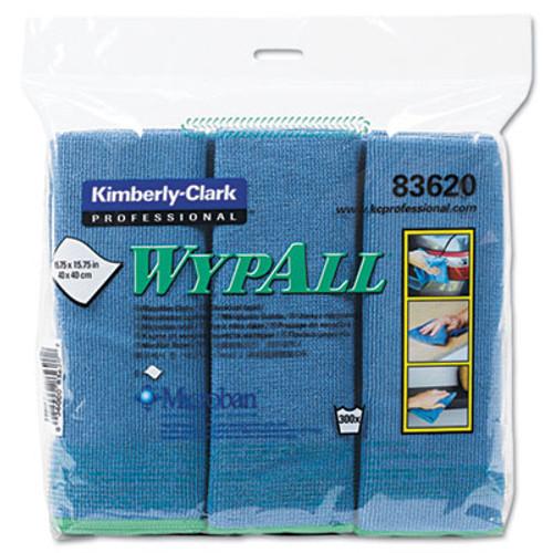 WypAll* Microfiber Cloths, Reusable, 15 3/4 x 15 3/4, Blue, 6/Pack (KCC83620)