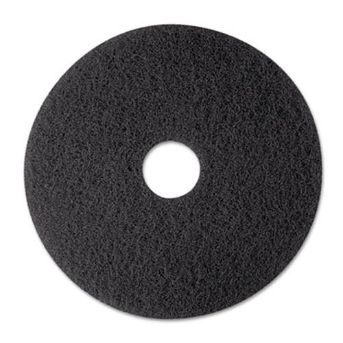 "3M Low-Speed Stripper Floor Pad 7200, 12"" Diameter, Black, 5/Carton (MMM08374)"