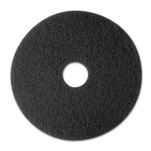 "3M Low-Speed Stripper Floor Pad 7200, 12"" Diameter, Black, 5/Carton (MMM08374)"