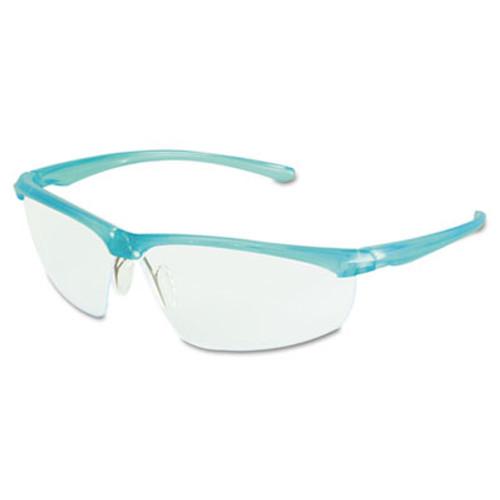 3M Refine 201 Safety Glasses, Half-frame, Clear AntiFog Lens, Teal Frame (MMM117350000020)