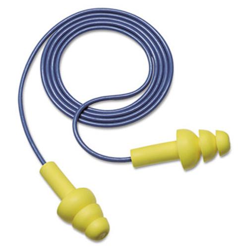 3M E·A·R UltraFit Earplugs, Corded, Premolded, Yellow, 100 Pairs (MMM3404004)