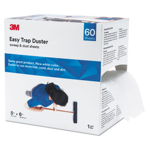 """3M Easy Trap Duster, 5"""" x 30ft, White, 60 Sheets/Box (MMM59032W)"""