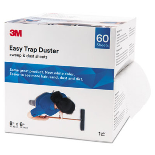 """3M Easy Trap Duster, 8"""" x 30ft, White, 60 Sheets/Box (MMM59152W)"""