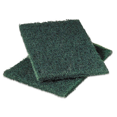 Scotch-Brite PROFESSIONAL Commercial Heavy-Duty Scouring Pad, Green, 6 x 9, 12/Pack (MMM86)