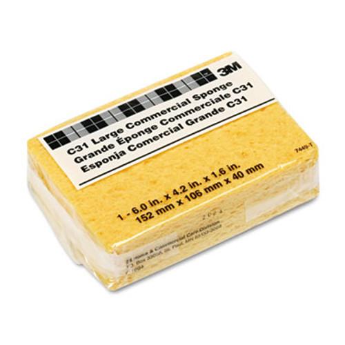 Scotch-Brite PROFESSIONAL Commercial Cellulose Sponge, Yellow, 4 1/4 x 6 (MMMC31)