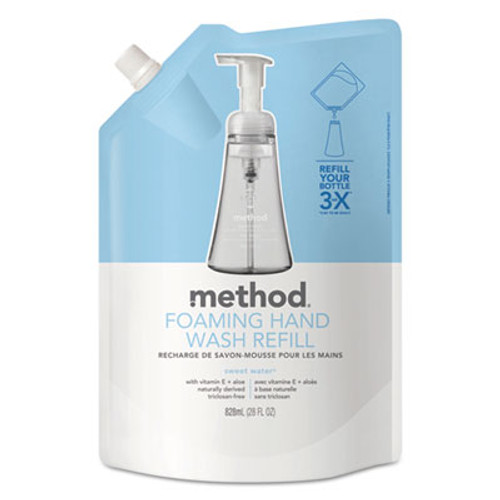 Method Foaming Hand Wash Refill, Sweet Water, 28 oz Pouch (MTH00662)
