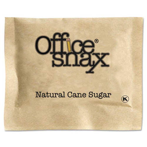 Office Snax Natural Cane Sugar, 2000 Packets/Carton (OFX00063)