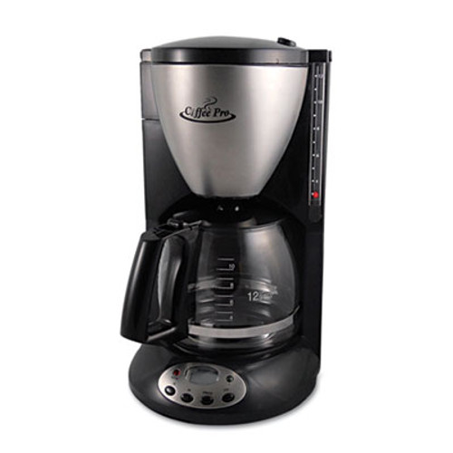 Coffee Pro Home/Office Euro Style Coffee Maker, Black/Stainless Steel (OGFCP12BP)
