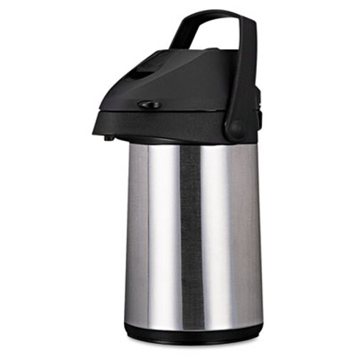 Coffee Pro Direct Brew/Serve Insulated Airpot with Carry Handle, 2200mL, Stainless Steel (OGFCPAP22)
