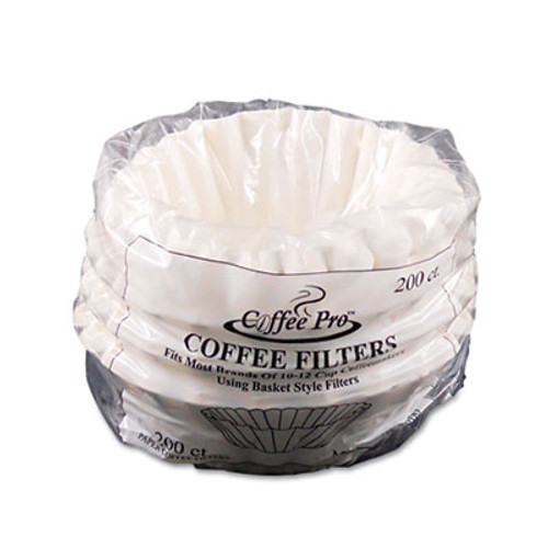 Coffee Pro Basket Filters for Drip Coffeemakers, 10 to 12-Cups, White, 200 Filters/Pack (OGFCPF200)