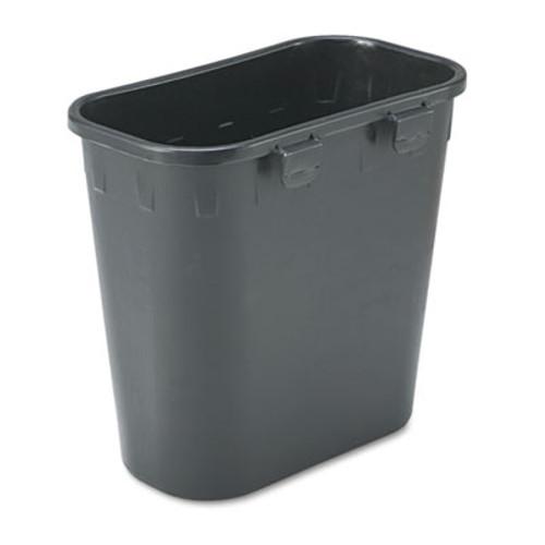 Safco Paper Pitch Recycling Bin, Rectangular, Polyethylene, 1.75gal, Black (SAF2944BL)