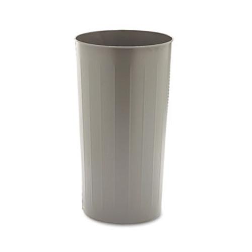 Safco Round Wastebasket, Steel, 22gal, Charcoal (SAF9610CH)
