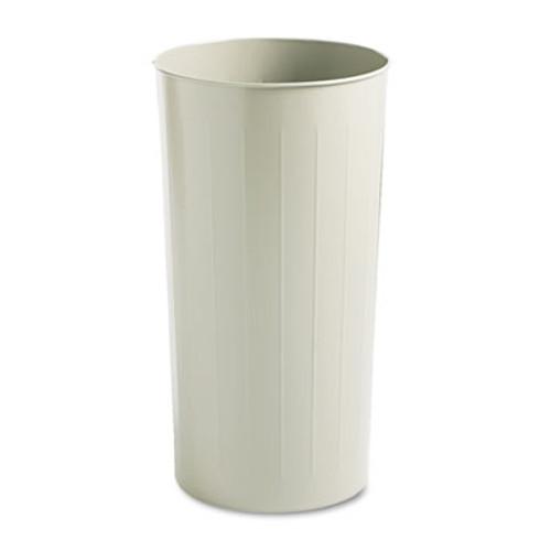 Safco Round Wastebasket, Steel, 20gal, Sand (SAF9610SA)