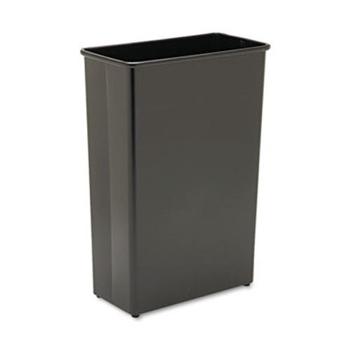 Safco Rectangular Wastebasket, Steel, 22gal, Black (SAF9618BL)