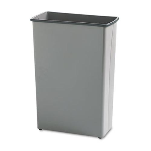 Safco Rectangular Wastebasket, Steel, 22gal, Charcoal (SAF9618CH)
