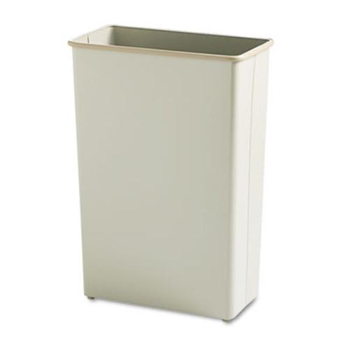 Safco Rectangular Wastebasket, Steel, 22gal, Sand (SAF9618SA)