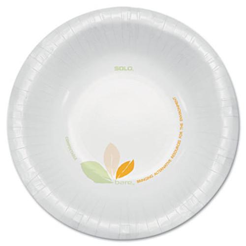 Dart Bare Paper Eco-Forward Dinnerware, 12oz Bowl, Green/Tan, 500/Carton (SCCOFHW12J7234)