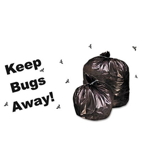 Stout Insect-Repellent Trash Garbage Bags, 30gal, 2mil, 33 x 40, BLK, 90/Box (STOP3340K20)