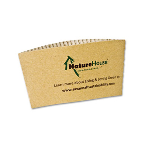 NatureHouse Hot Cup Sleeves, Fits 8oz Cups, 1000/Carton (SVAS01)