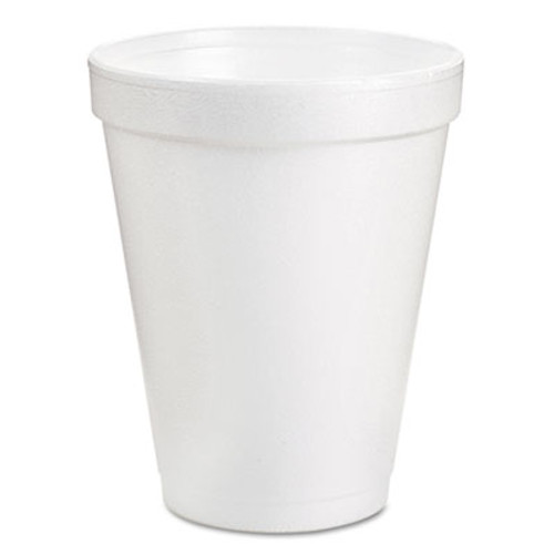 Dart Drink Foam Cups, 8oz, White, 25/Pack (DCC8J8BG)