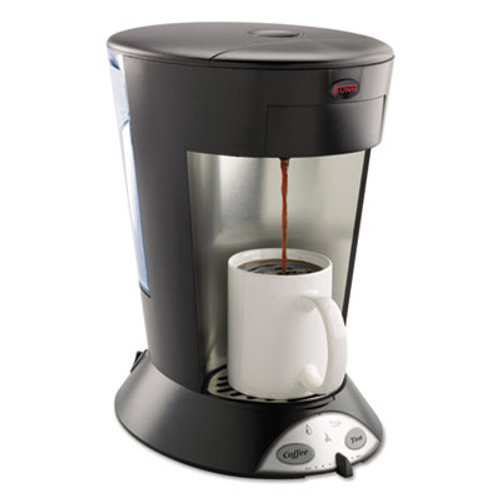 BUNN My Cafe Pourover Commercial Grade Coffee/Tea Pod Brewer, Stainless Steel, Black (BUNMCP)