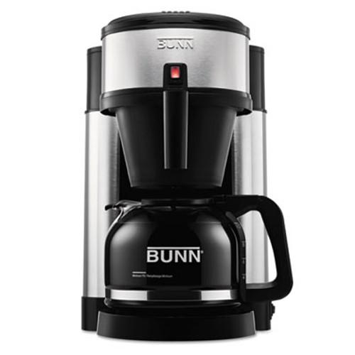 BUNN 10-Cup Velocity Brew NHS Coffee Brewer, Black, Stainless Steel (BUNNHS)