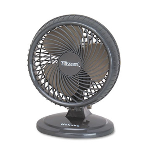 "Holmes Lil' Blizzard 7"" Two-Speed Oscillating Personal Table Fan, Plastic, Black (HLSHAOF87BLZNUC)"