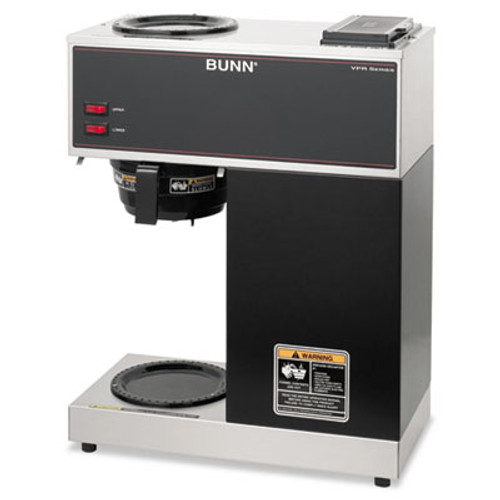 BUNN VPR Two Burner Pourover Coffee Brewer, Stainless Steel, Black (BUNVPR)