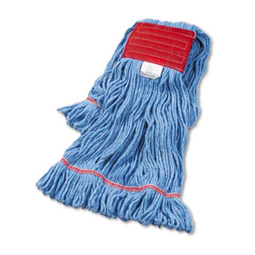 Boardwalk Super Loop Wet Mop Head, Cotton/Synthetic, Large Size, Blue (BWK503BLEA)