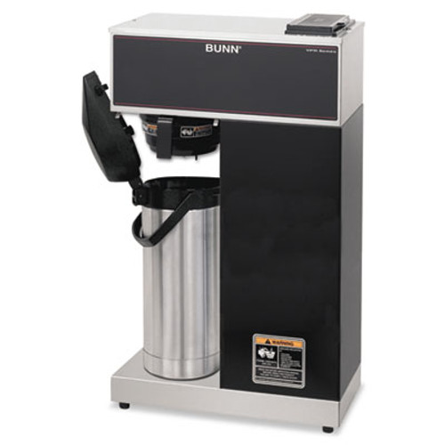 BUNN VPR-APS Pourover Thermal Coffee Brewer with 2.2L Airpot, Stainless Steel, Black (BUNVPRAPS)