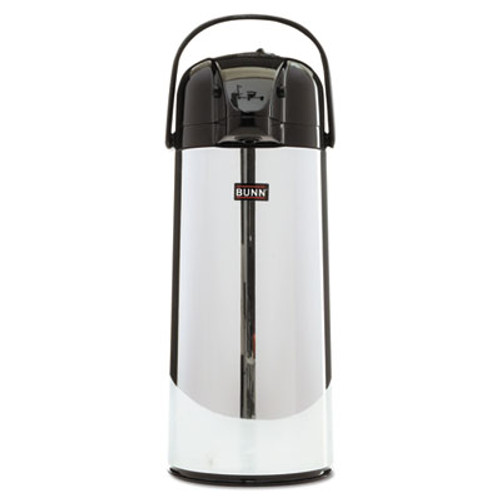 BUNN 2.2 Liter Push Button Airpot, Stainless Steel (BUNAIRPOT22)