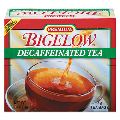 Bigelow Single Flavor Tea, Decaffeinated Black, 48 Bags/Box (BTC00356)