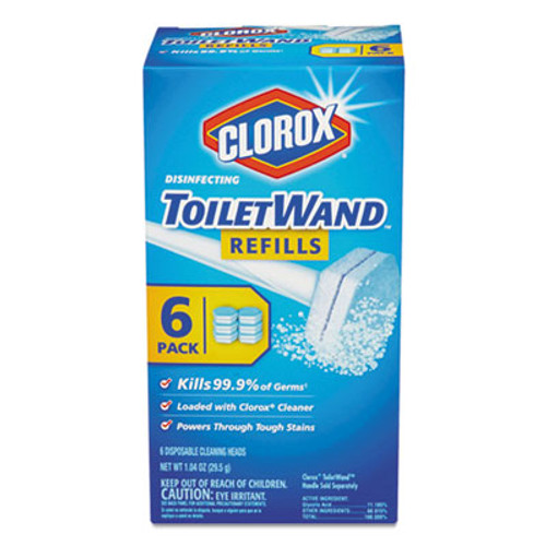 Clorox Disinfecting ToiletWand Refill Heads, 6/Pack (CLO14882)